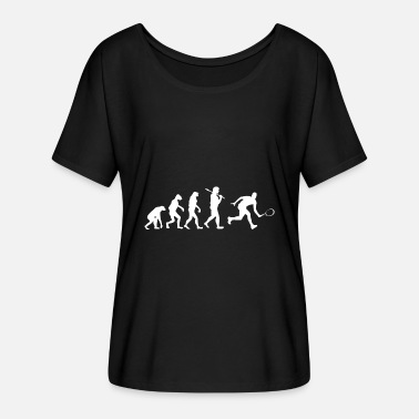 Ketcher Spil Evolution Tennis player gave sport ketcher - Dame T-shirt med flagermusærmer fra Bella + Canvas