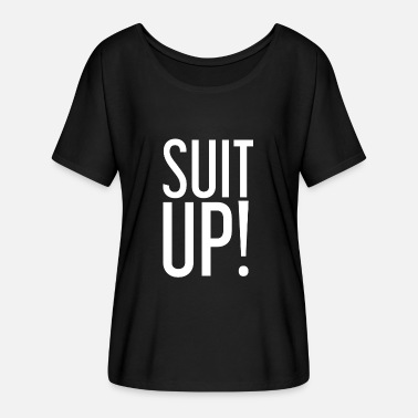 Suit Of Armor Suit Up! Suit - white - Women's Batwing-Sleeve T-Shirt by Bella + Canvas