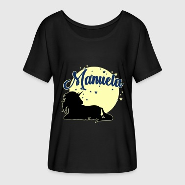 Manuela Manuela name first name women girl - Women's Batwing-Sleeve T-Shirt by Bella + Canvas