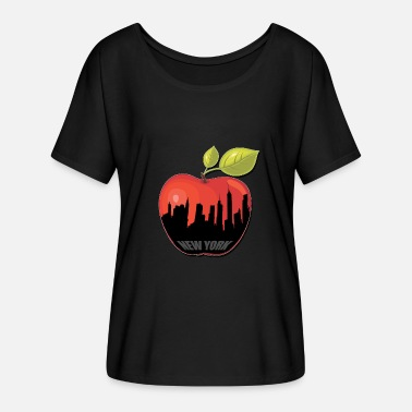 Big Apple BIG APPLE - Dame T-shirt med flagermusærmer fra Bella + Canvas
