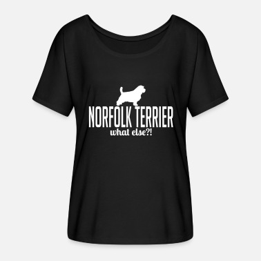 Norfolk NORFOLK TERRIER whatelse - T-shirt manches chauve-souris Femme Bella + Canvas