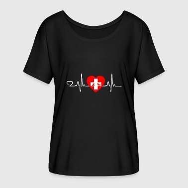 Veterinario / Animal Love - Heartbeat - Camiseta mujer con mangas murciélago de Bella + Canvas