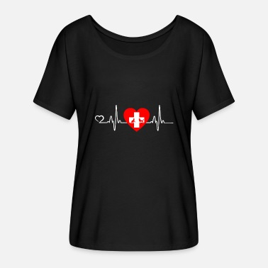 Veterinario Veterinario / Animal Love - Heartbeat - Camiseta mujer con mangas murciélago de Bella + Canvas
