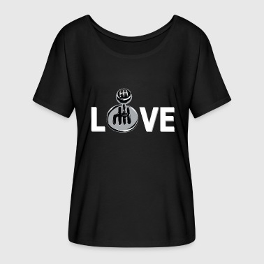 Love / for car enthusiast or tuner - Women's Batwing-Sleeve T-Shirt by Bella + Canvas