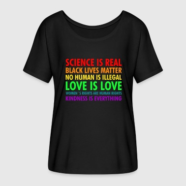 Science is real - LGBT - Women's Batwing-Sleeve T-Shirt by Bella + Canvas