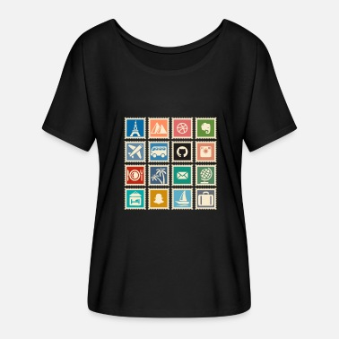 Stamp Collecting collect stamps - Women's Batwing-Sleeve T-Shirt by Bella + Canvas