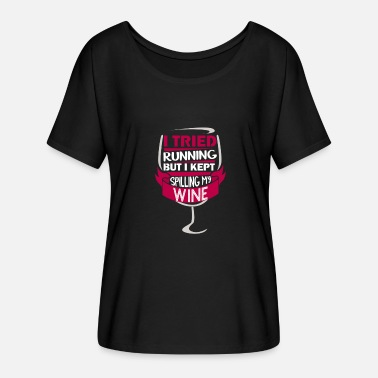 Wine Wine shirt for women gift alcohol - Women's Batwing-Sleeve T-Shirt by Bella + Canvas