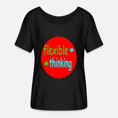 Flexible flexible thinking colorful - Women's Batwing-Sleeve T-Shirt by Bella + Canvas