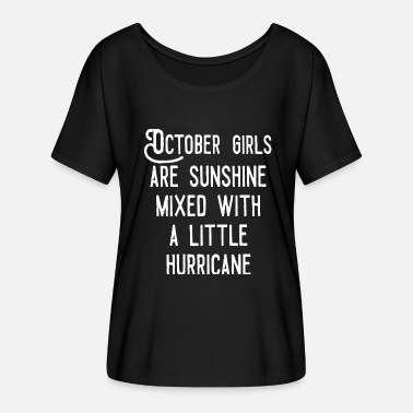 October Girls October girls are sunshine mixed - Women's Batwing-Sleeve T-Shirt by Bella + Canvas