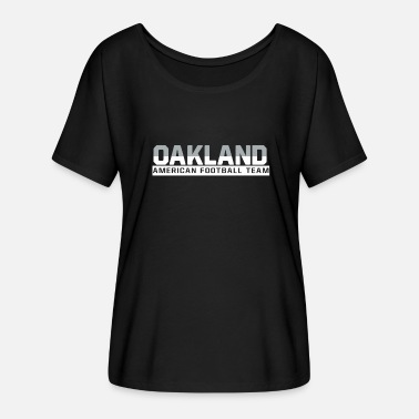 Oakland Raiders Oakland Football - Frauen Fledermaus T-Shirt