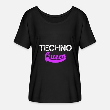 Electro Techno Queen Rave Electro - Women's Batwing T-Shirt