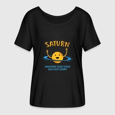 Saturn Ring Saturn Rings / Hula Hoop Gift - Women's Batwing-Sleeve T-Shirt by Bella + Canvas