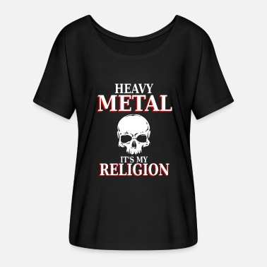 Headbanging Heavy Metal - Det er min religion - headbanging nation - Dame T-shirt med flagermusærmer fra Bella + Canvas