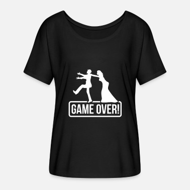 Bride Groom JGA Game over Bride Groom - Camiseta mujer con mangas murciélago de Bella + Canvas