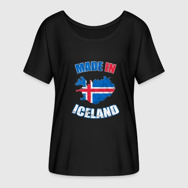 Flag Of Iceland Iceland flag flag Born in Iceland - Women's Batwing-Sleeve T-Shirt by Bella + Canvas