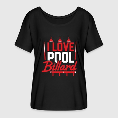 8ball Amo Pool regalo - Maglietta da donna con maniche a pipistrello di Bella + Canvas