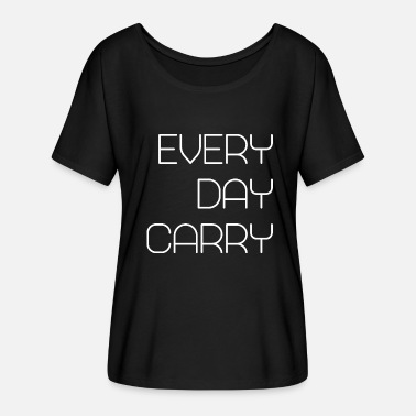 Carry EDC Every Day Carry - Camiseta mujer con mangas murciélago de Bella + Canvas