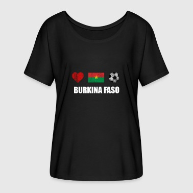 Burkina Faso Burkina Faso Football Shirt - Burkina Faso Soccer - Women's Batwing-Sleeve T-Shirt by Bella + Canvas