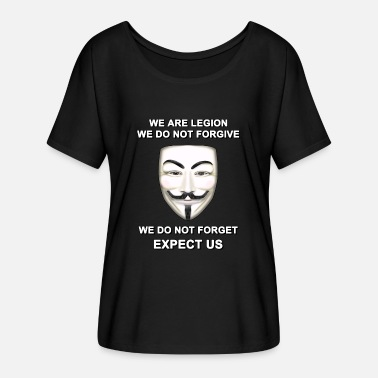 Expect Us We are Legion Expect Us - Women's Batwing-Sleeve T-Shirt by Bella + Canvas