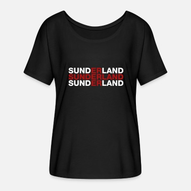 Sunderland Sunderland United Kingdom Flag Shirt - Sunderland - Women's Batwing-Sleeve T-Shirt by Bella + Canvas