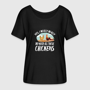 Farmer Shirt-All these Chickens - Frauen T-Shirt mit Fledermausärmeln von Bella + Canvas