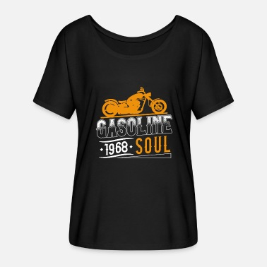 Gasoline Gasoline Soul | Gasoline inspired - Motorcycles - Women's Batwing-Sleeve T-Shirt by Bella + Canvas