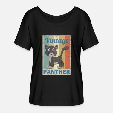 Retro Grunge Panther Vintage Retro Style Grunge - Women's Batwing-Sleeve T-Shirt by Bella + Canvas