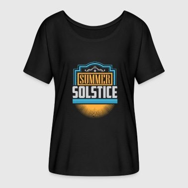 Solstice Holiday Summer Solstice - Women's Batwing-Sleeve T-Shirt by Bella + Canvas