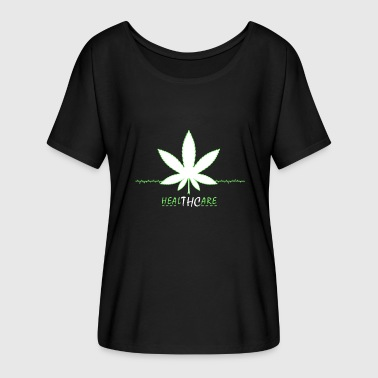 Cannabis grass smoking marijuana - Women's Batwing-Sleeve T-Shirt by Bella + Canvas