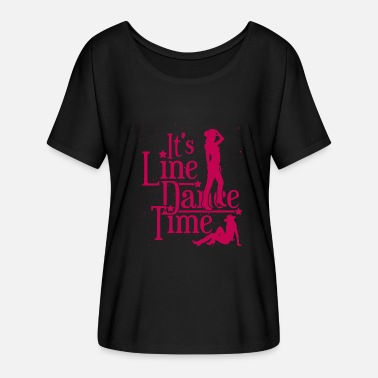 Line Line dance - Women's Batwing-Sleeve T-Shirt by Bella + Canvas