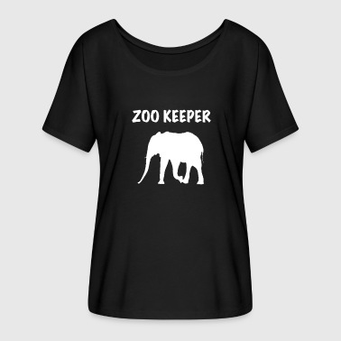 Zoo Keeper Elephant (Animal Keeper) - Women's Batwing-Sleeve T-Shirt by Bella + Canvas