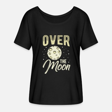 Moon Star Planet Space Space Moon Planet Space Star Idea - Women's Batwing-Sleeve T-Shirt by Bella + Canvas