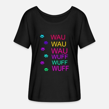 Bow Wow wow wuff - Women's Batwing-Sleeve T-Shirt by Bella + Canvas
