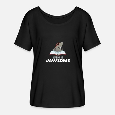 World Book Day Reading Book is Jawsome - Women's Batwing-Sleeve T-Shirt by Bella + Canvas