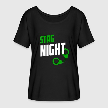 Stag Night Stag Night STAG DO - Frauen T-Shirt mit Fledermausärmeln von Bella + Canvas