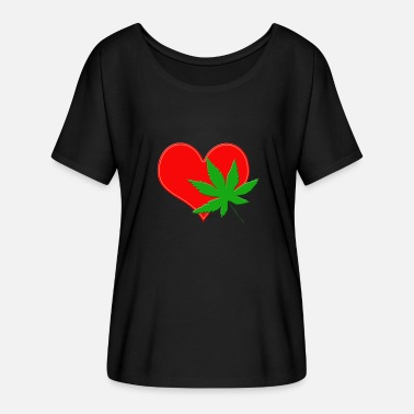 Canabis DOPEHEART CANABIS WEED - Women's Batwing-Sleeve T-Shirt by Bella + Canvas