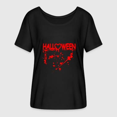 Halloween love scary gift witch lesson - Women's Batwing-Sleeve T-Shirt by Bella + Canvas