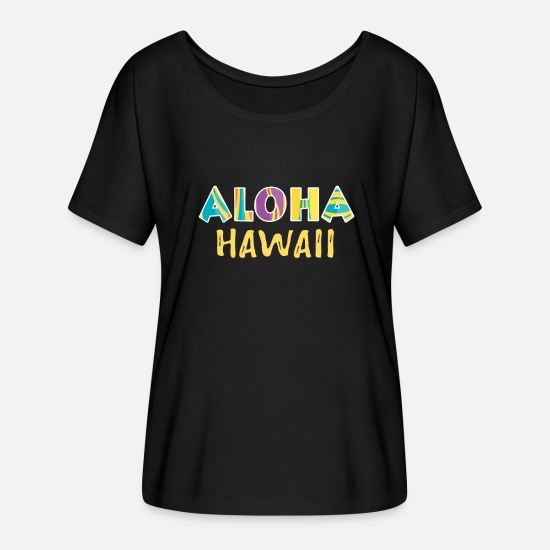Gift Idea T-Shirts - Hawaii - Women's Batwing T-Shirt black