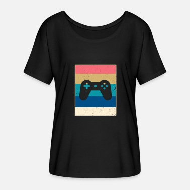 Retro Game Characters Retro Gaming - Women's Batwing-Sleeve T-Shirt by Bella + Canvas