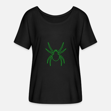 Neon Light Cross spider green shade light gift Arac - Women's Batwing-Sleeve T-Shirt by Bella + Canvas