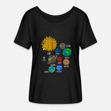 Planet Planet Earth - Women's Batwing-Sleeve T-Shirt by Bella + Canvas
