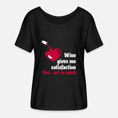 Sex Wine Wine connoisseurs beware: a good glass of red wine - Women's Batwing-Sleeve T-Shirt by Bella + Canvas