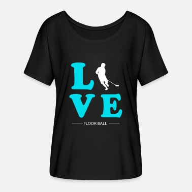 Floor Ball FLOOR BALL LOVE - Women's Batwing T-Shirt