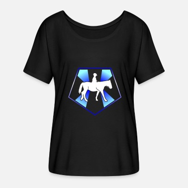 Ride A Horse Horse riding Horse Horse riding Horse riding Horse riding - Women's Batwing-Sleeve T-Shirt by Bella + Canvas