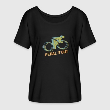 Pedal It Out Cycling Cycling Bicycle Gift - Women's Batwing-Sleeve T-Shirt by Bella + Canvas