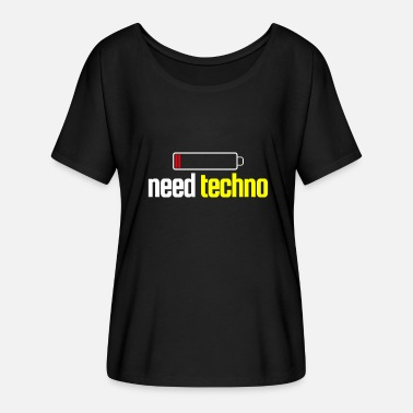 Techno Music techno dancing - Women's Batwing T-Shirt