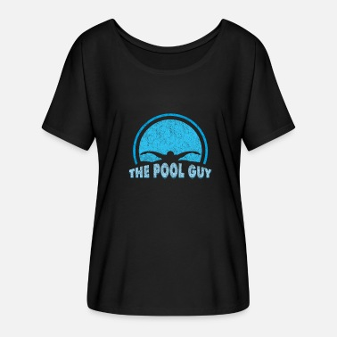 Swimming Pool Swimming Pool Swimming Pool Leisure Hobby Gift - Women's Batwing-Sleeve T-Shirt by Bella + Canvas