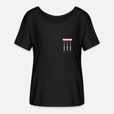 Netherlands Championship Netherlands Darts - Women's Batwing-Sleeve T-Shirt by Bella + Canvas