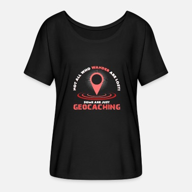 Geocachers Geocaching - Women's Batwing-Sleeve T-Shirt by Bella + Canvas
