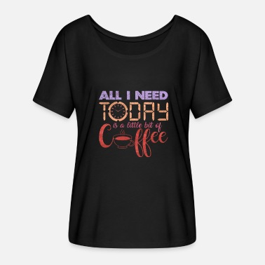 Latte Coffee typography | Coffee lover gift idea - Women's Batwing-Sleeve T-Shirt by Bella + Canvas